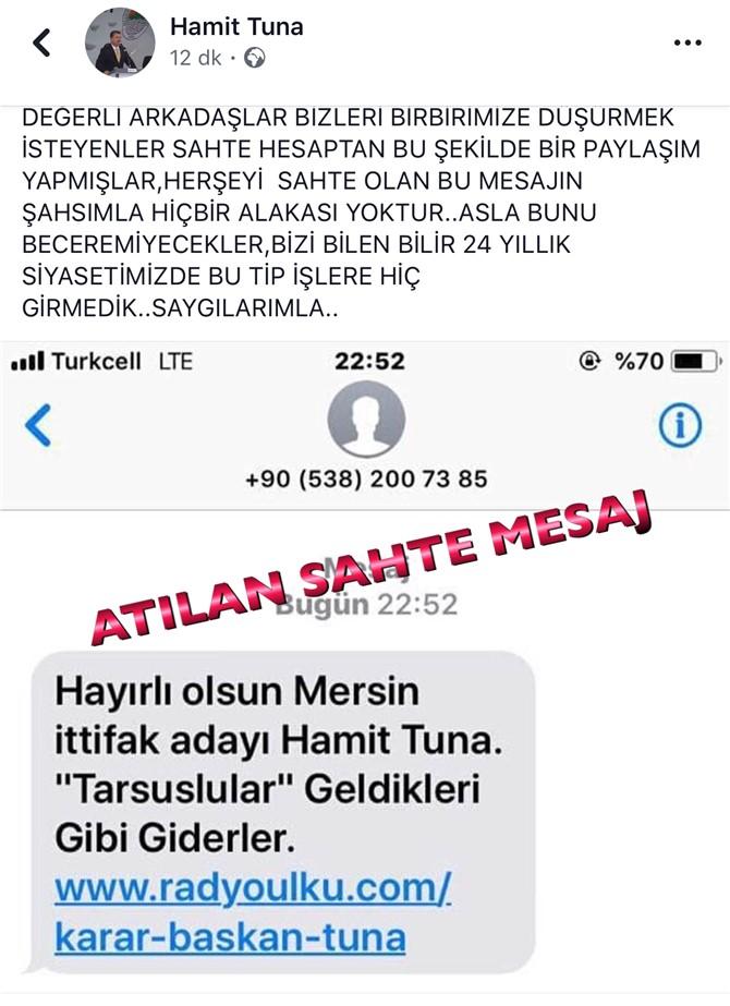 Sahte SMS Mersin