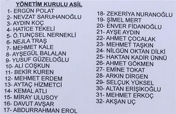 İYİ Parti Tarsus Yönetim Kurulu Listesi (Asil)