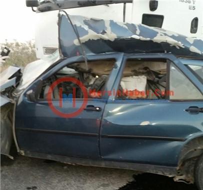 Tarsus'ta Kamyon ile Otomobil Çarpıştı