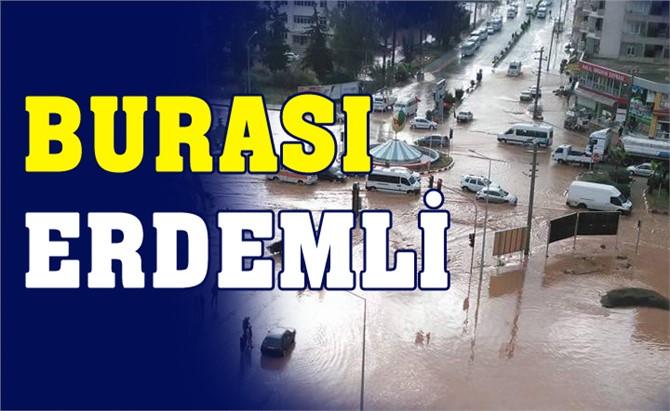 Mersin Erdemli'de Yağışlar Sele Neden Oldu!