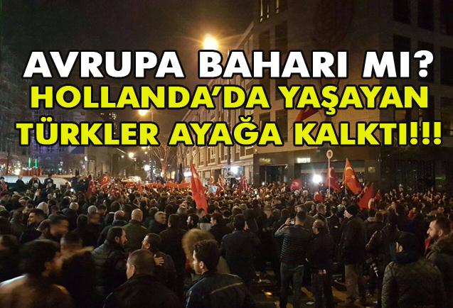 Hollanda  Rotterdam'da Protestolar. Türkler Ayağa Kalktı!