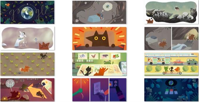 Google'den Dünya Günü için ipuçları Doodle'leri