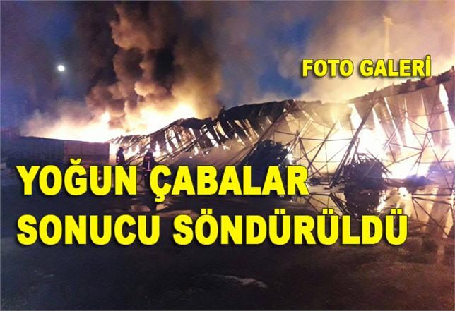Tarsus Sebze Hali'nde Yangın