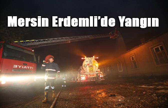 Mersin Erdemli ALATA Ziraat Okulunda Yangın