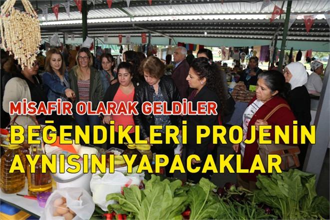 """Tunceli'den Mezitli'ye Gelen Misafir Kadınlardan """"Kadın Üretici Pazarı"""" İlgisi"""
