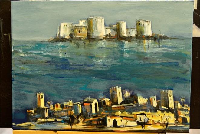 """Sanatçıların """"Mersin Uluslararası Ressamlar Buluşması"""" Çalışmaları"""