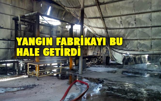 D 400 Karayolu Bağlarbaşı Kavşağındaki Strafor Fabrikasındaki Yangından Fotoğraflar