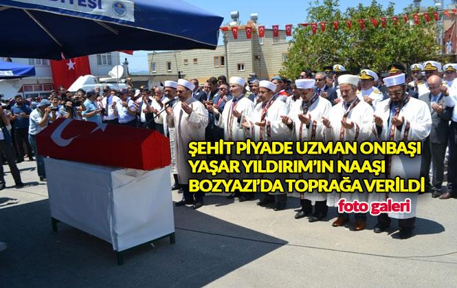 Mersinli Şehidin Cenazesi Bozyazı'da Toprağa Verildi