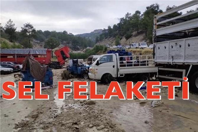 Salı Günü (Bugün) Mersin Mut Narlı ve Pamuklu Mahallerinde Sel Felaketi Yaşandı