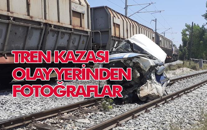Mersin Tren Kazası; Yenice'de Meydana Gelen Tren Kazasının Olay Yeri Fotoğrafları