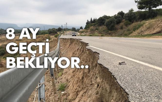 Tarsus - Çamlıyayla Yolunda Meydana Gelen Çökmenin Ardından 8 Ay Geçti!