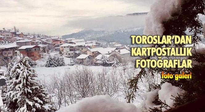 Mersin Toroslar'dan Kartpostallık Kar Fotoğrafları
