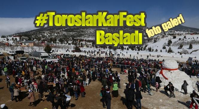 Mersin'in İlk Kar Festivali Toroslar Belediyesi Tarafından Arslanköy'de Gerçekleşiyor