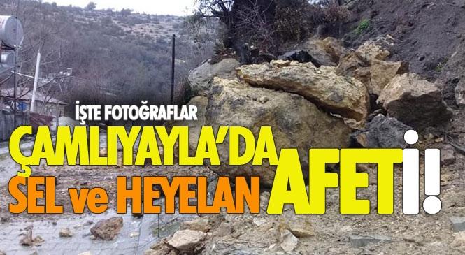 Mersin Çamlıyayla'da Sel ve Heyelan Afeti Yaşandı! Şiddetli Sağanak Hayatı Olumsuz Etkiledi