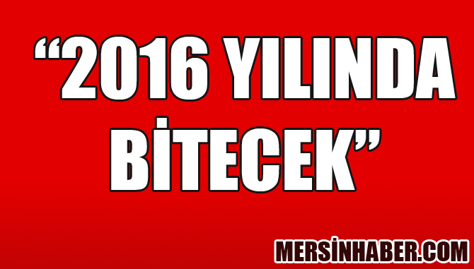 2016 YILINDA BİTECEK