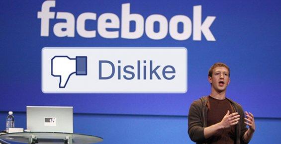 """Facebook'a """"Beğenmeme"""" Butonu Geliyor"""