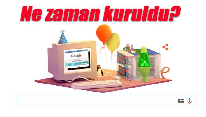 Google Ne Zaman Kuruldu? (Cevabı ise 4 Eylül 1998'de Kuruldu)