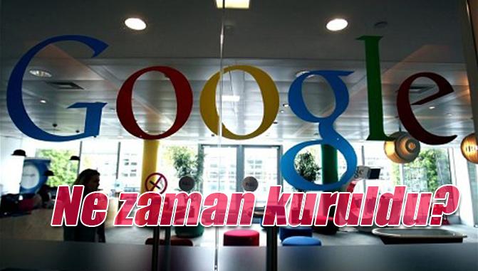 Google ne zaman kuruldu, Google neden kuruluşunu doodle yaptı