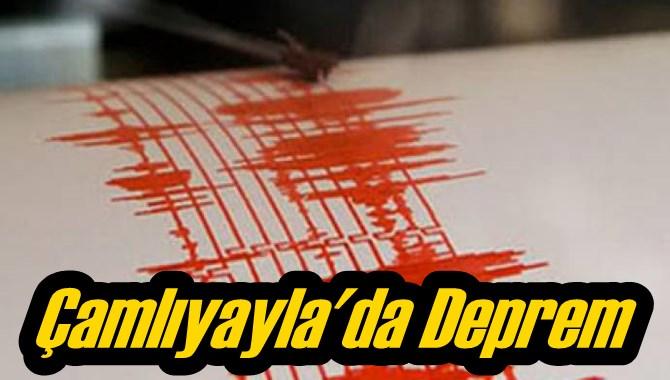 Çamlıyayla'da Hafif Şiddetli Deprem