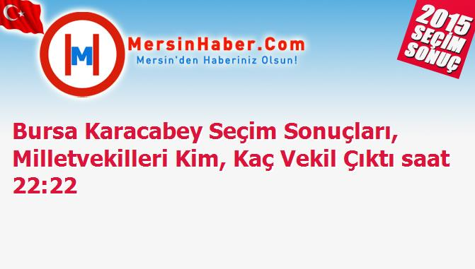 Bursa Karacabey Seçim Sonuçları, Milletvekilleri Kim, Kaç Vekil Çıktı saat 22:22