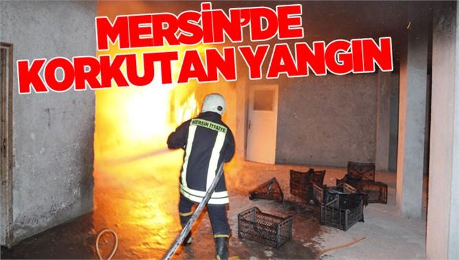 Mersin'de Korkutan Yangın