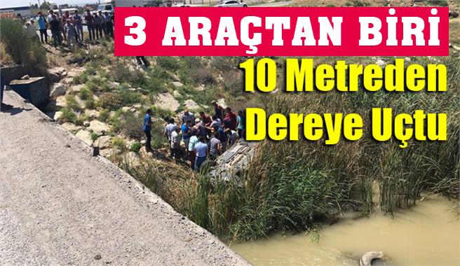 Tarsus'ta Araç Köprüden Uçtu