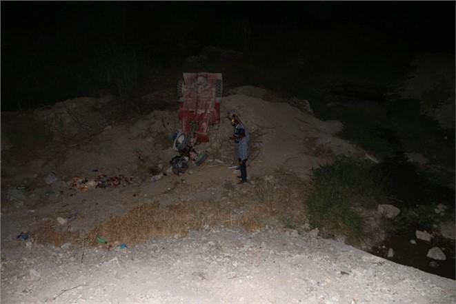 Mut'ta Taktak motoru uçuruma yuvarlandı 6 Yaralı