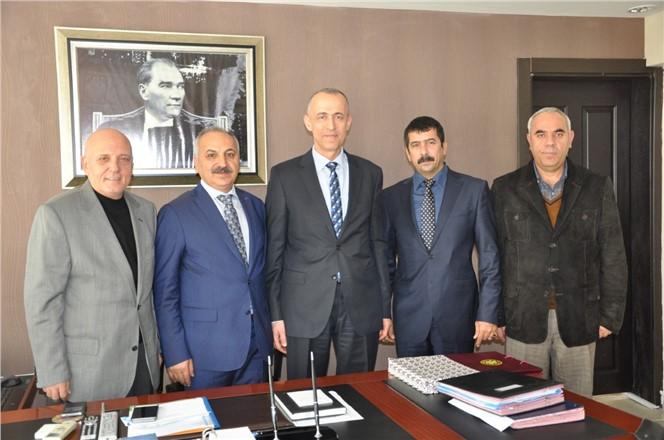 Başkan Dinçer'den Akdeniz Kaymakamı Aktaş'a ziyaret