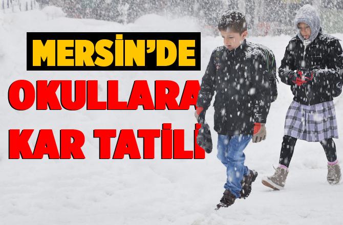 Gülnar'da Eğitime Kar Nedeniyle 1 Gün Verildi