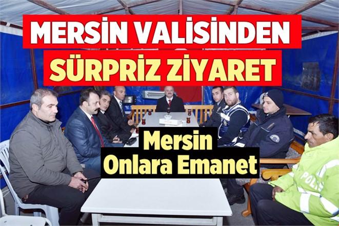 Mersin Valisi Özdemir Çakacak, Polis Uygulama Noktasını Denetledi