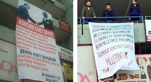 MERSİN'DE PANKART GERGİNLİĞİ BÜYÜYOR!!!