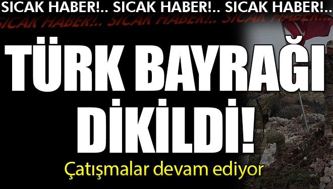 O köye Türk bayrağı dikildi!