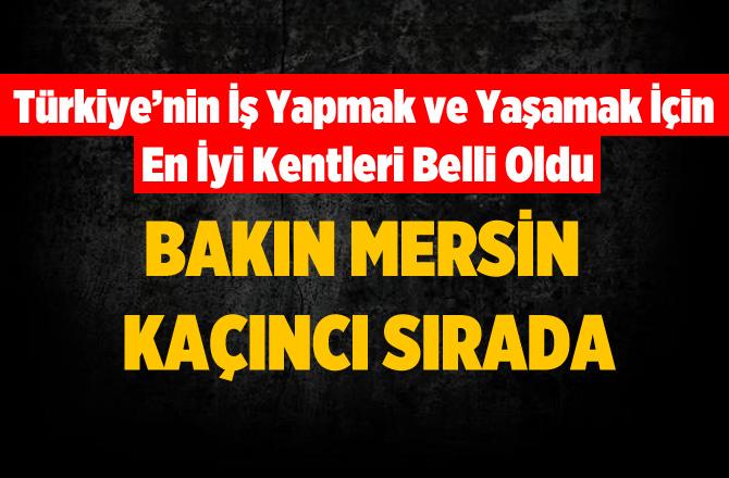 Türkiye'nin İş Yapmak ve Yaşamak İçin En İyi Kentleri Açıklandı