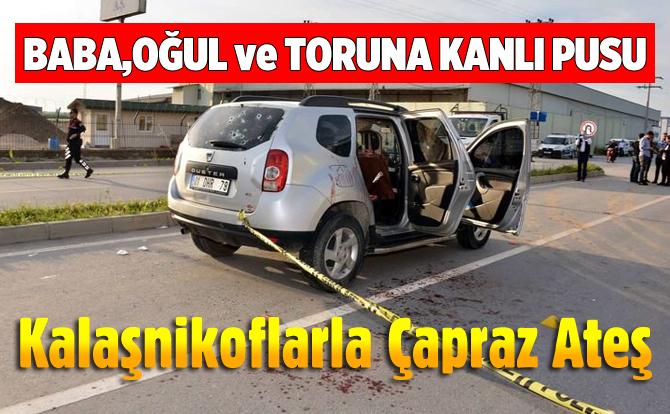 Otomobili Kalaşnikof ve Tabancayla Taradılar: 1 Ölü, 2 Yaralı