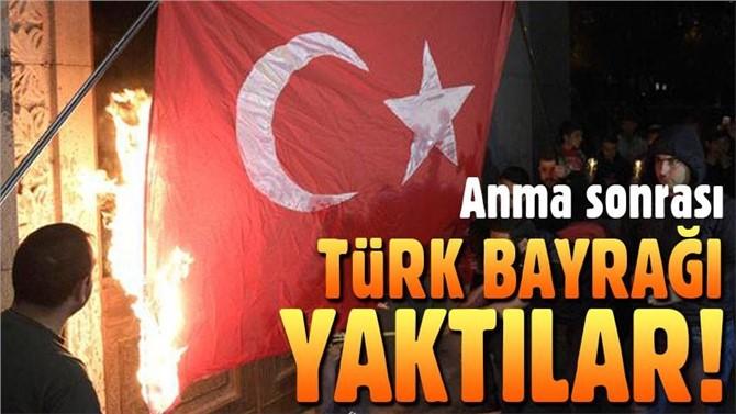 Erivan'da Türk bayrağını ateşe verdiler!