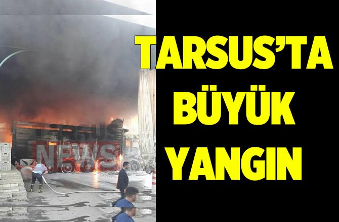 Tarsus'ta Bir Kamyon Cayır Cayır Yandı