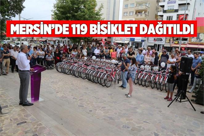 Mezitli Belediyesi 119 Bisiklet Dağıttı