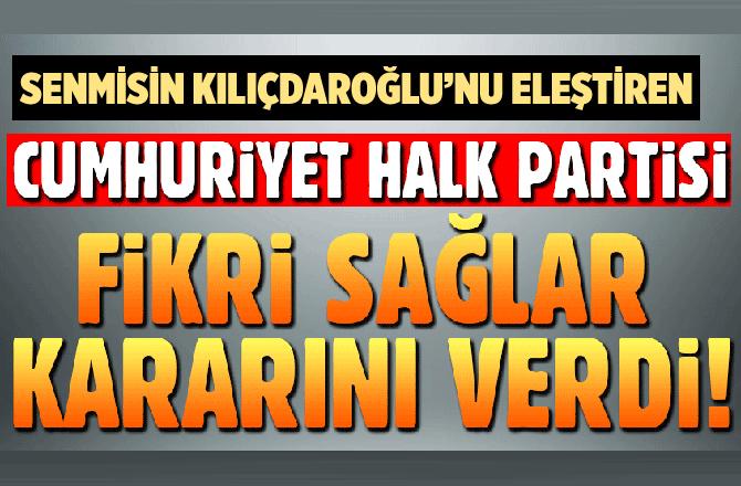 CHP'den flaş Fikri Sağlar kararı!