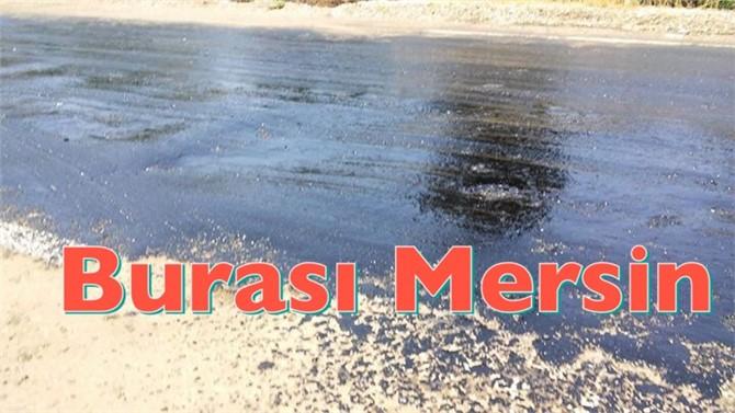 Mersin'de sıcak nedeniyle asvalt eridi
