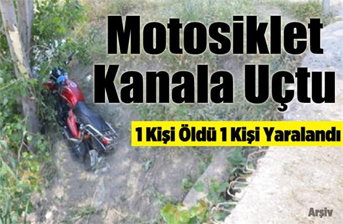 Tarsus'ta motosiklet kanala uçtu: 1 ölü 1 yaralı