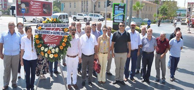 CHP Tarsus İlçe Teşkilatı 15 Temmuz Şehitlerini andı