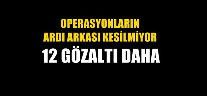 Mersin'de FETÖ operasyonu: 12 gözaltı