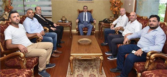 Tarsus Gazeteciler Cemiyeti Yönetiminden Vali Su'ya Ziyaret
