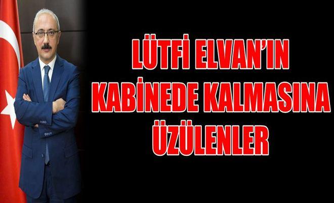 Lütfi Elvan'ın Kabinede Kalmasına Üzülenler