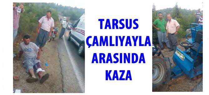 Çamlıyayla Yolunda Kaza, Tak Tak Tarım Aracı Kaza Yaptı: 3 Yaralı