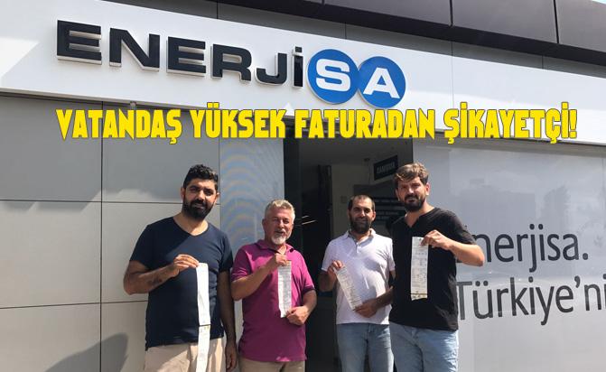 Tarsus'taki Esnaflar Yüksek Gelen Elektrik Faturalarını Protesto Etti