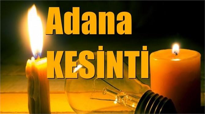 Adana Elektrik Kesintisi (Hafta Sonu Dahil)