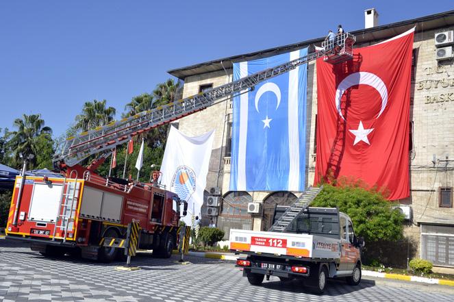 Büyükşehir, Kerkük Bayrağını Mersin'de Dalgalandırıyor