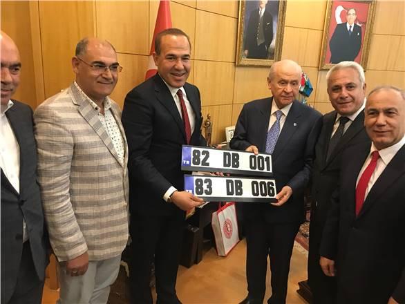 Başkan Sözlü'den Lider Bahçeli'ye Kerkük ve Musul plakaları
