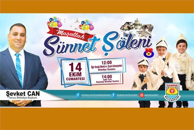 Tarsus Belediyesi Sünnet Şöleni 14 Ekim Cumartesi Günü Yapılacak